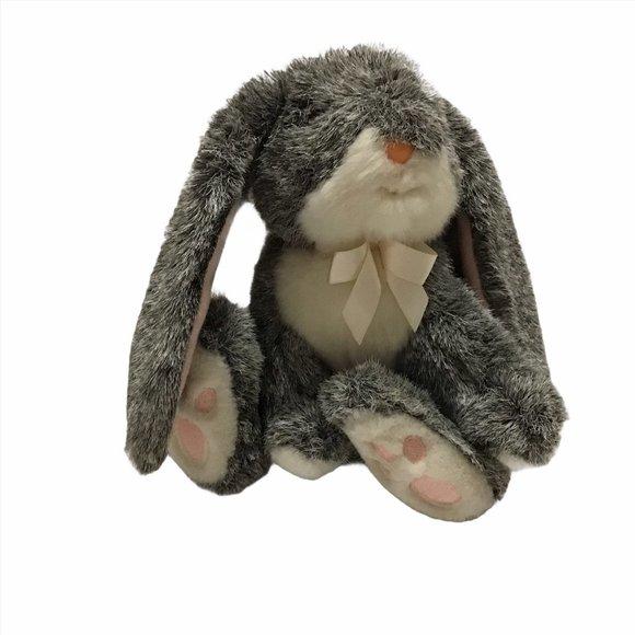 "Russ Bouncy the Plush Bunny Rabbit Gray 8"""